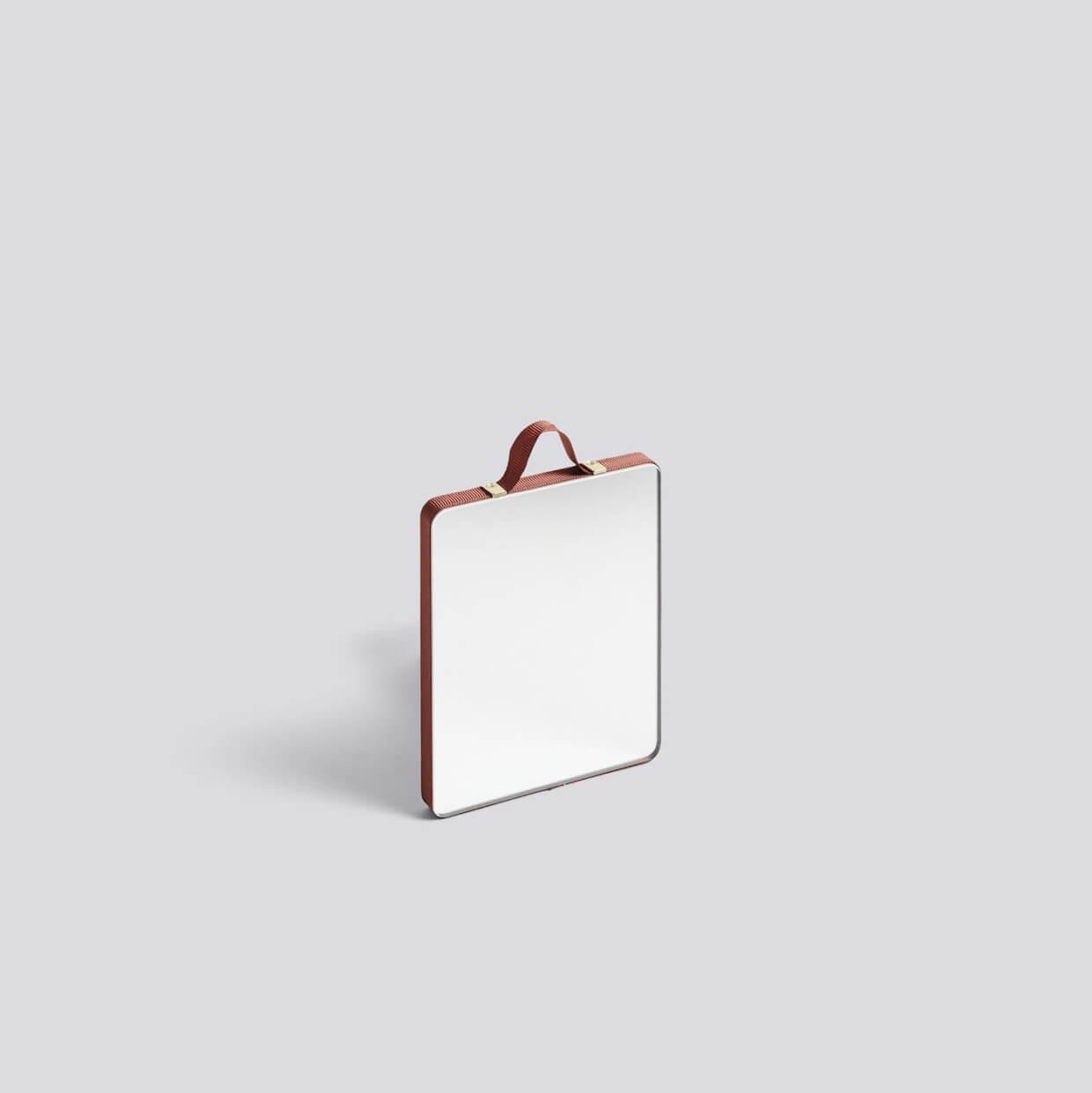 HAY RUBAN / RECTANGULAR S RUST ミラー(赤褐色)