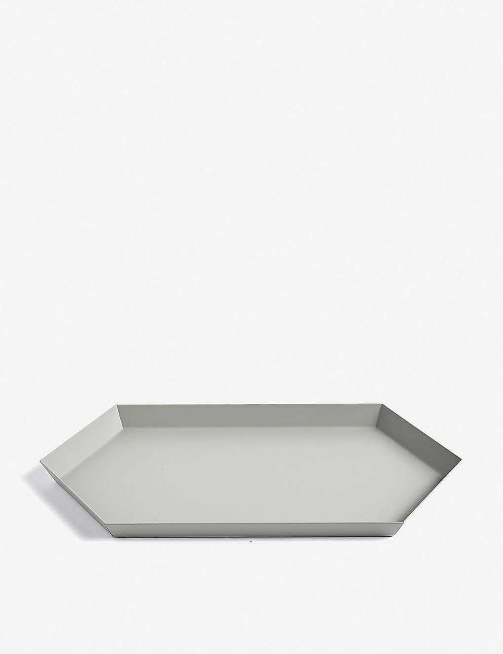 HAY Kaleido medium steel tray gray 33.5×19.5cm / カレイド ミディアム スチールトレイ グレイ